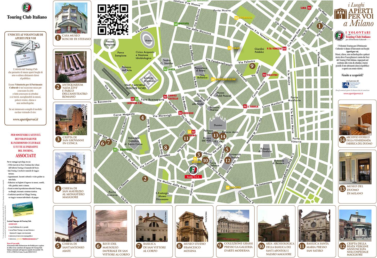 Mappa di Milano – Aperti per Voi – TCI